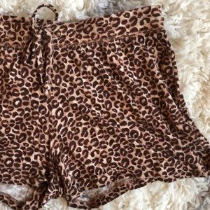 NWOT Leopard Sleep Shorts